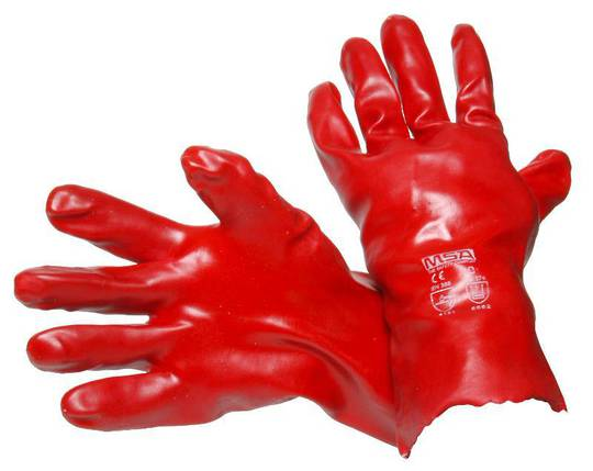 Red PVC Coated Gloves