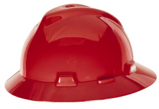 MSA V Gard Full Brim Hard Hat