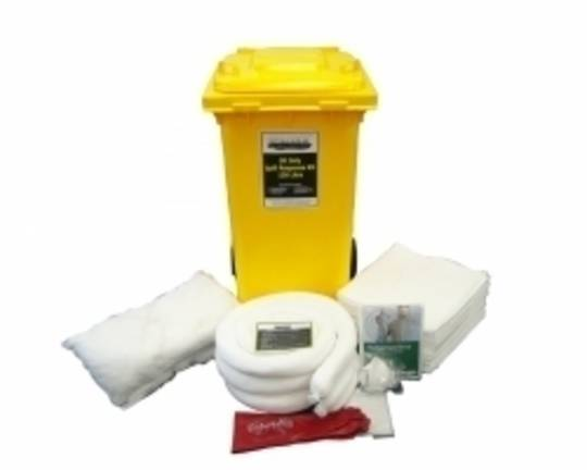 SpillTech 120L Oil Only Spill Kit Wheelie Bins