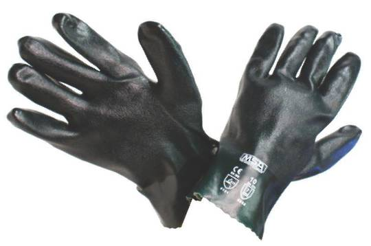 Green Double Dip PVC Coated Gloves