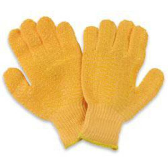 Orange Knitted Lattice Glove