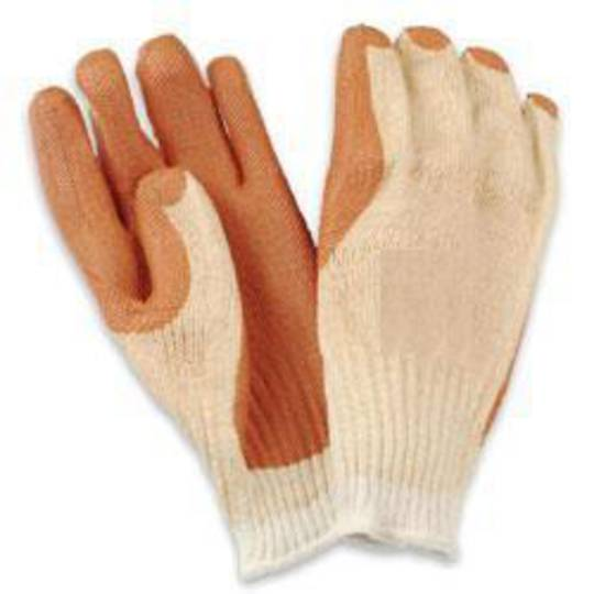 Orange Roughy Latex on Polycotton Glove (12 prs)