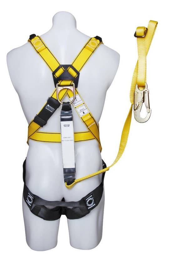 "MSA Workman Premier Harness with ""Free"" 2mtr Adjustable Fall Arrest Lanyard"