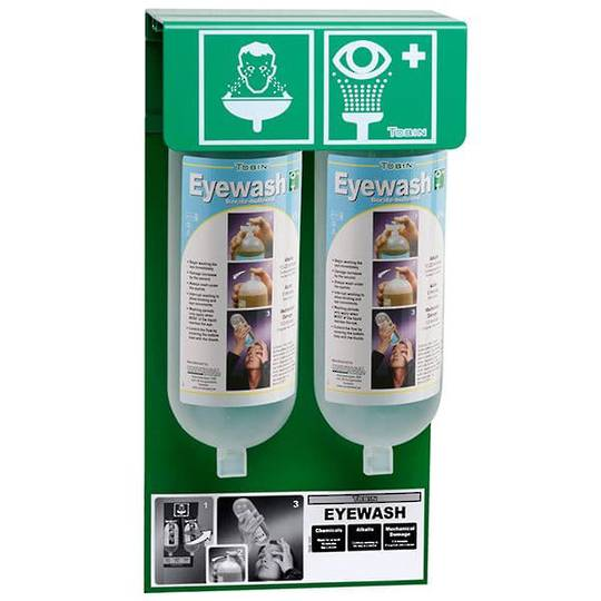Tobin Eyewash Stationary Stand - PH Neutralising Buffer Solution