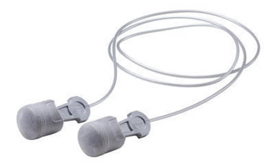3M Peltor Pistonz Corded Push-To-Fit Earplugs - Class 4