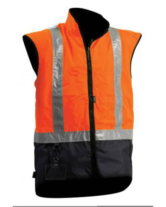 Bison Stamina Day/Night Orange Navy Vest