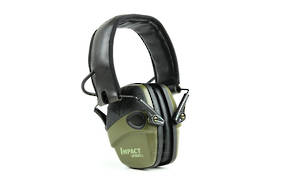 Impact Sport Ear Muff, Hunter Green (Olive) - Class 4